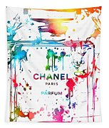 Chanel Number Five Paint Splatter Tapestry