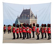 Changing Of The Guard The Citadel Quebec City Tapestry