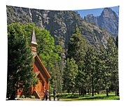 Chapel In The Valley Tapestry