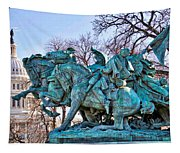 Charge On The Capitol Tapestry