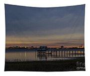 Charleston At Night Tapestry