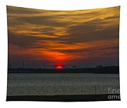 Charleston Sc Sunset Tapestry