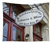 Charleston Tobacco And Wine Sign Tapestry