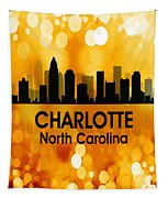 Charlotte Nc 3 Squared Tapestry