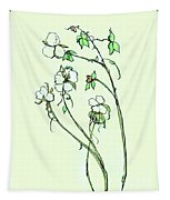 Charming Cotton Bolls Tapestry