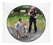 Chasing Bubbles Tapestry