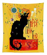 Chat Noir New Years Party Countdown Tapestry