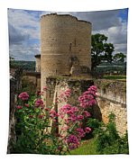 Chateau Chinon In The Loire Valley Tapestry