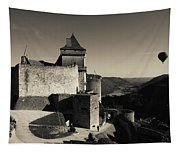 Chateau De Castelnaud With Hot Air Tapestry