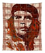 Che Guevara Digital From Watercolor Painting Tapestry