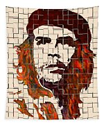Che Guevara Watercolor Painting Tapestry