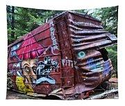 Cheakamus Box Car Graffiti Tapestry