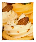 Cheddar Cheese On Crackers With Almonds Tapestry