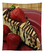 Cheesecake With Strawberries Tapestry