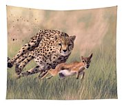 Cheetah And Gazelle Painting Tapestry