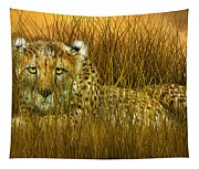 Cheetah - In The Wild Grass Tapestry