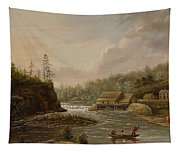 Cheevers Mill On The St. Croix River Tapestry