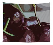 Cherries Abstract Tapestry