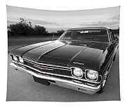 Chevrolet El Camino In Black And White Tapestry