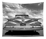 Chevrolet Impala 1959 In Black And White Tapestry