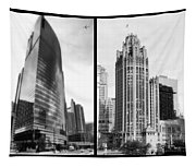 Chicago 333 And The Tower 2 Panel Bw Tapestry