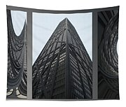 Chicago Abstract Before And After John Hancock Sw Facades Triptych 3 Panel Tapestry