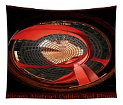 Chicago Abstract Calder Red Flamingo Triptych 3 Panel Tapestry