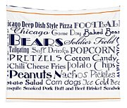 Chicago Bears Game Day Food 3 Tapestry