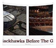 Chicago Blackhawks Before The Gates Open Interior 2 Panel White 01 Tapestry