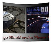 Chicago Blackhawks Please Stand 2 Panel Sb Tapestry
