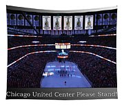 Chicago Blackhawks Please Stand Up With White Text Sb Tapestry