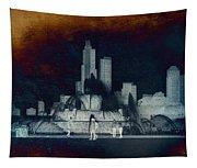 Chicago Buckingham Fountain Northside Textured Tapestry