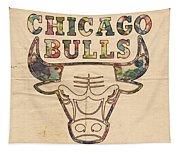 Chicago Bulls Logo Vintage Tapestry