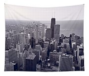 Chicago Bw Tapestry