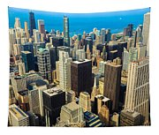 Chicago Cityscape Tapestry