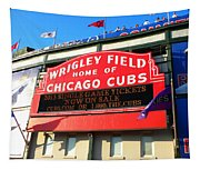 Chicago Cubs Marquee Sign Tapestry
