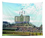 Chicago Cubs Scoreboard 01 Tapestry