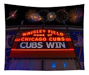 Chicago Cubs Win Fireworks Night Tapestry