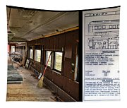 Chicago Eastern Il Rr Business Car Restoration With Blue Print Tapestry