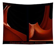 Chicago Flamingo Abstract 2 Panel 02 Tapestry