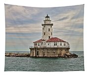 Chicago Harbor Lighthouse Tapestry