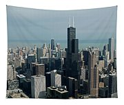 Chicago Looking East 04 Tapestry