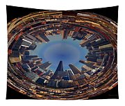 Chicago Looking East Polar View Tapestry