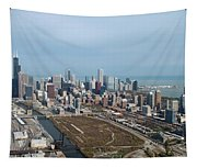 Chicago Looking North 02 Tapestry