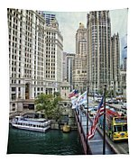 Chicago Michigan Avenue V Hdr Textured Tapestry