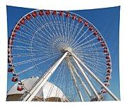 Chicago Navy Pier Ferris Wheel Tapestry