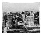 Chicago Panorama 1915 Tapestry