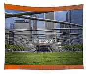 Chicago Pritzker Music Pavillion Triptych 3 Panel Tapestry