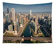 Chicago River Aloft Tapestry