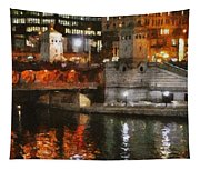 Chicago River At Michigan Avenue Tapestry